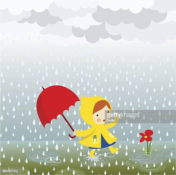 ilustrações, clipart, desenhos animados e ícones de chuva de primavera - fragilidade