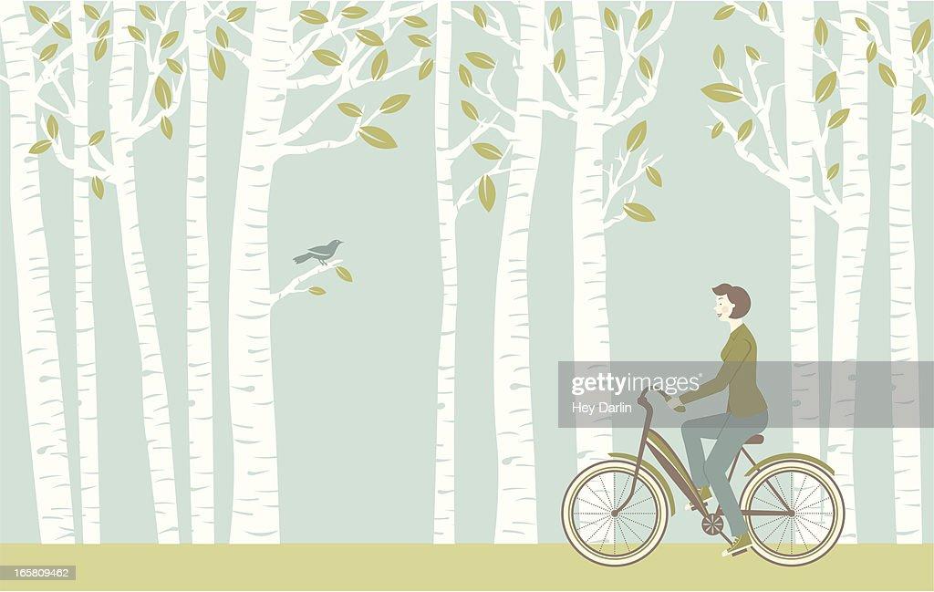 Spring Ride : Stock-Illustration