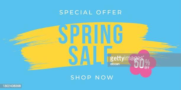 illustrazioni stock, clip art, cartoni animati e icone di tendenza di design spring sale per pubblicità, striscioni, volantini e volantini. - dare