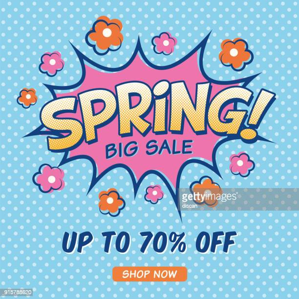 spring sale design for advertising, banners, leaflets and flyers. - springtime stock illustrations, clip art, cartoons, & icons