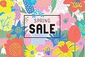 Spring sale flowers blooming