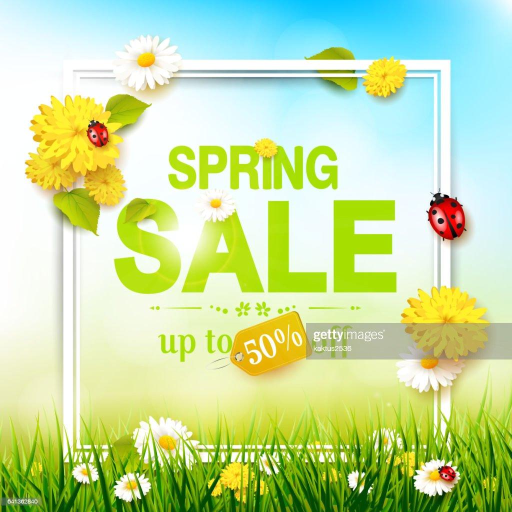 Spring sale flyer