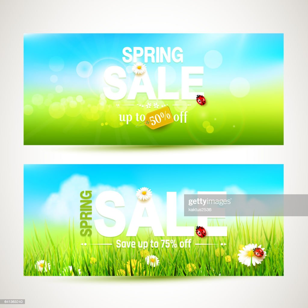 Spring sale headers