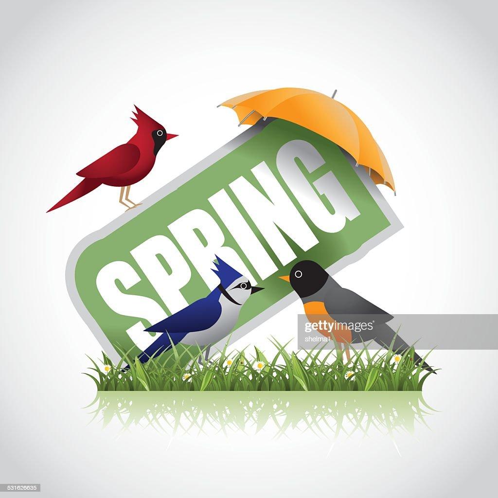 Spring sale icon stock illustration