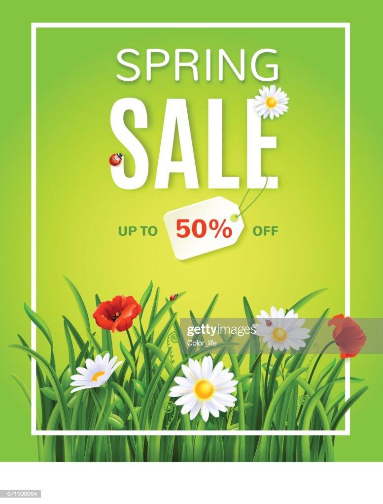 Spring sale poster .