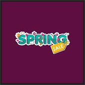 Spring sale Vector Template Design
