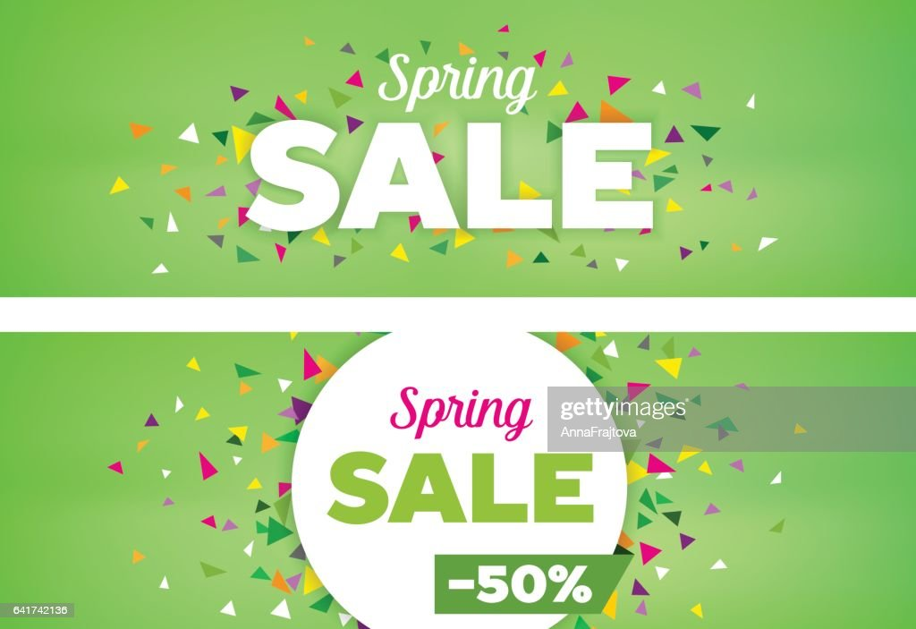Spring Sales Banners - Seasonal Discount Template