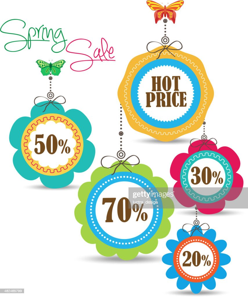 Spring Sales Icons