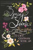 Spring Soiree Chalkboard