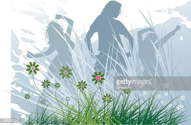 Spring Summer Dancing Girls