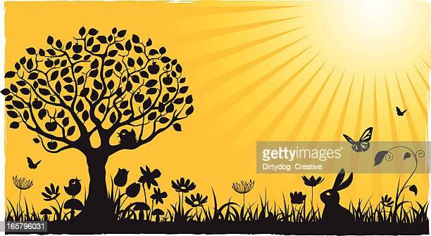 ilustrações de stock, clip art, desenhos animados e ícones de primavera/verão em amarelo - canto de passarinho