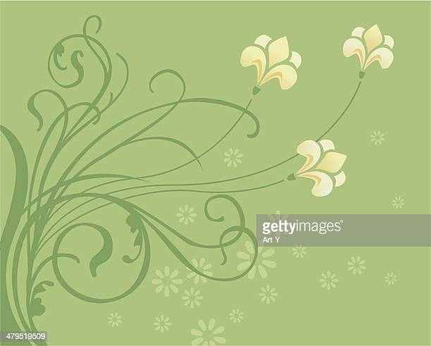 spring swirls - easter lily stock illustrations