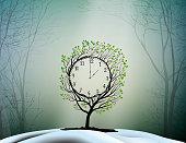 Spring time, spring clock, magic