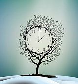 Spring time, spring clock,