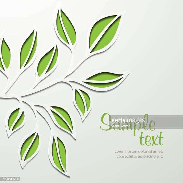 Spring Tree Branch. Vector Illustration