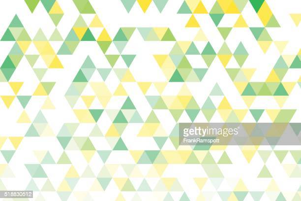 Frühling Dreieck Muster mit Farbverlauf