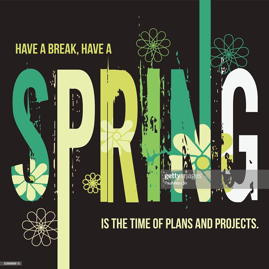 Spring typographic design poster