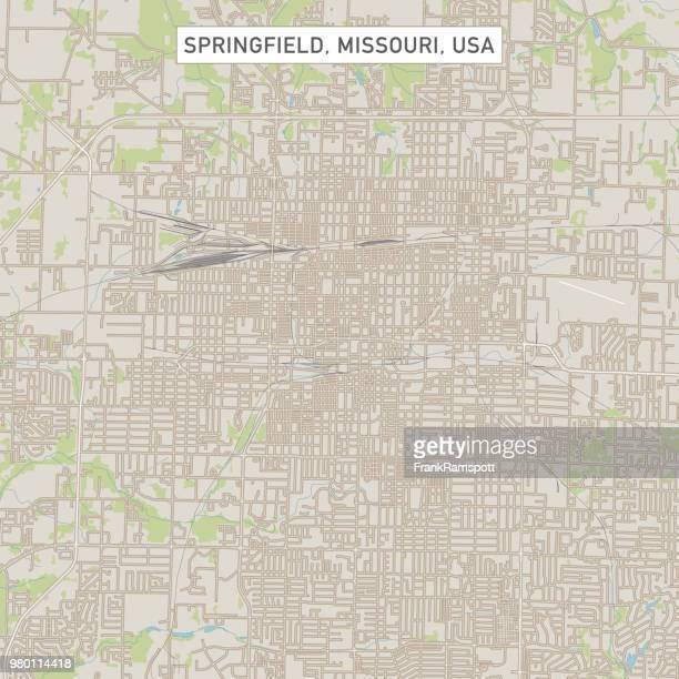 Springfield Missouri USA Stadtstraße Karte