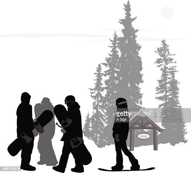 springsnowboarders - ski goggles stock illustrations, clip art, cartoons, & icons