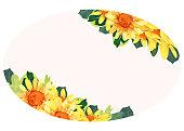 Spring/Summer yellow flower frame vector