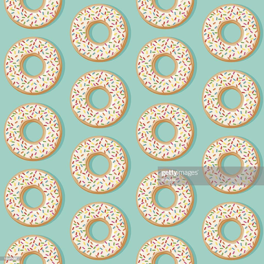 Sprinkle Donut Seamless Pattern