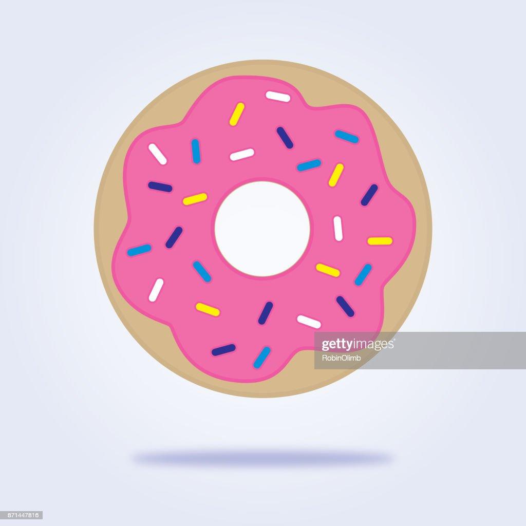 Sprinkled Donut Icon : stock illustration