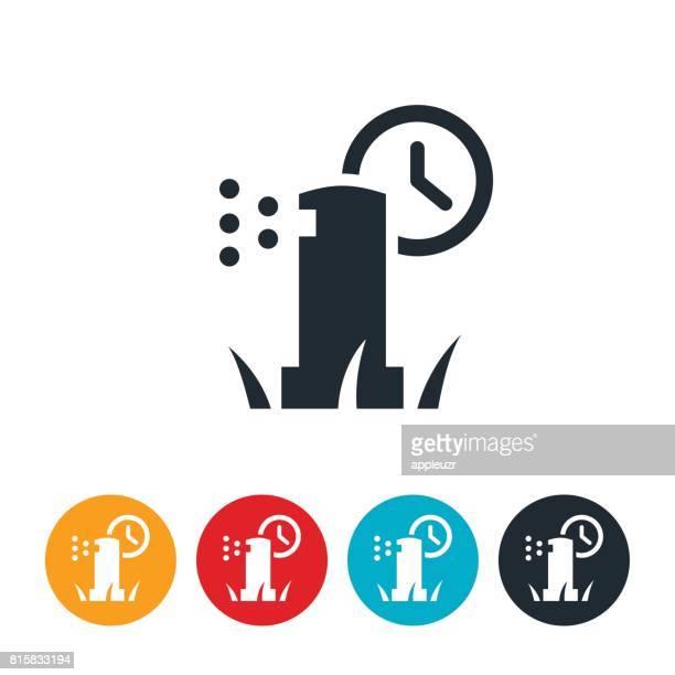 Sprinkler On Timer Icon
