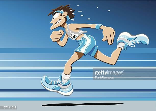Sprinter Cartoon Man