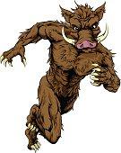 Sprinting boar sports mascot