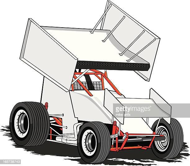 sprintwhite - sprint car stock illustrations