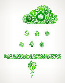 Sprouting Seed Nature and Environmental Conservation Icon Pattern