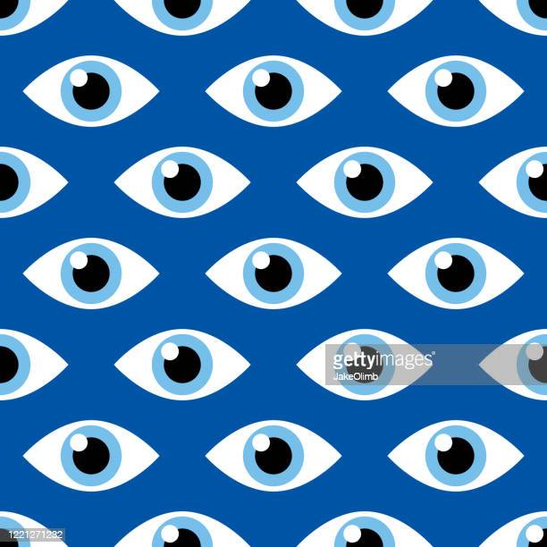 spy eye pattern - hypnosis stock illustrations