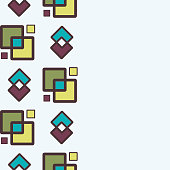 Square abstract geometric pattern with rhombuses seamless vector background.