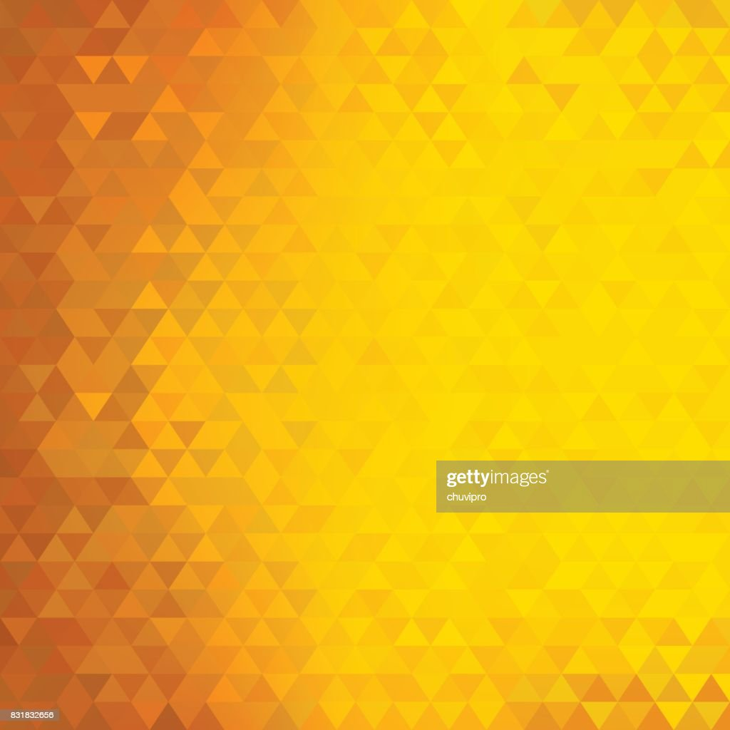 Square abstract triangles geometric background - Orange, Yellow
