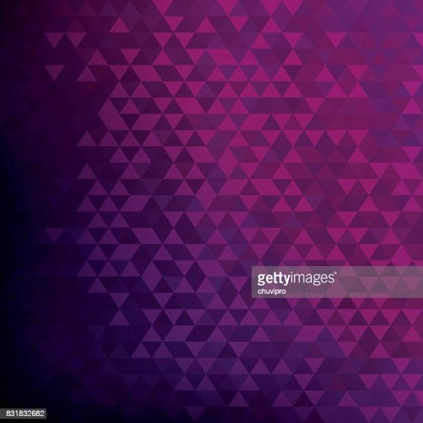 square abstract triangles geometric background - pink, purple, dark purple - purple background stock illustrations, clip art, cartoons, & icons