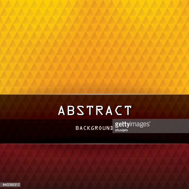 Square abstract triangles geometric background - Red, Orange, Yellow, Brown, Black