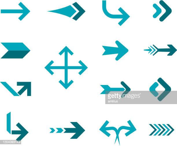 square arrows - arrow bow and arrow stock illustrations