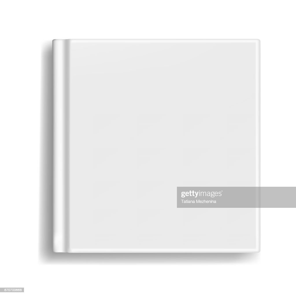 Square book, organizer or photobook cover template