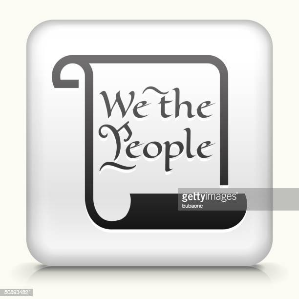 square button with american constitution royalty free vector art - bill of rights stock illustrations