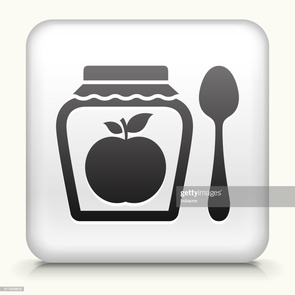 Square Button with Apple Jam