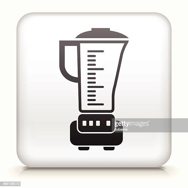 Square Button with Blender royalty free vector art