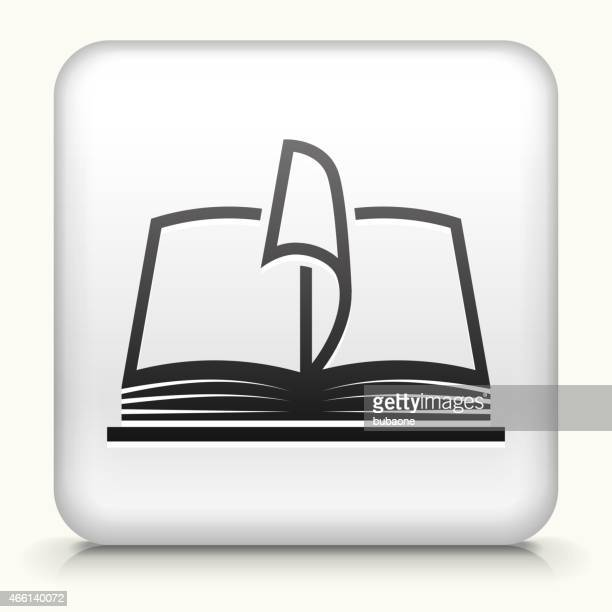 Square Button with Book interface icon