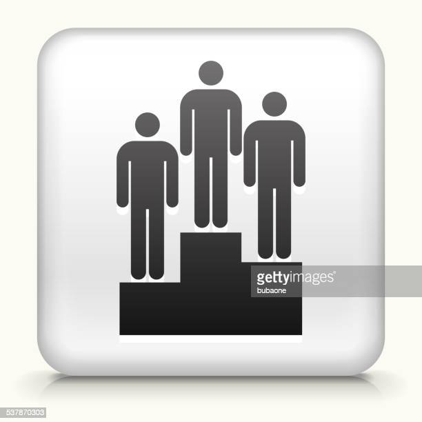 Square Button with Boxing Winner royalty free vector art
