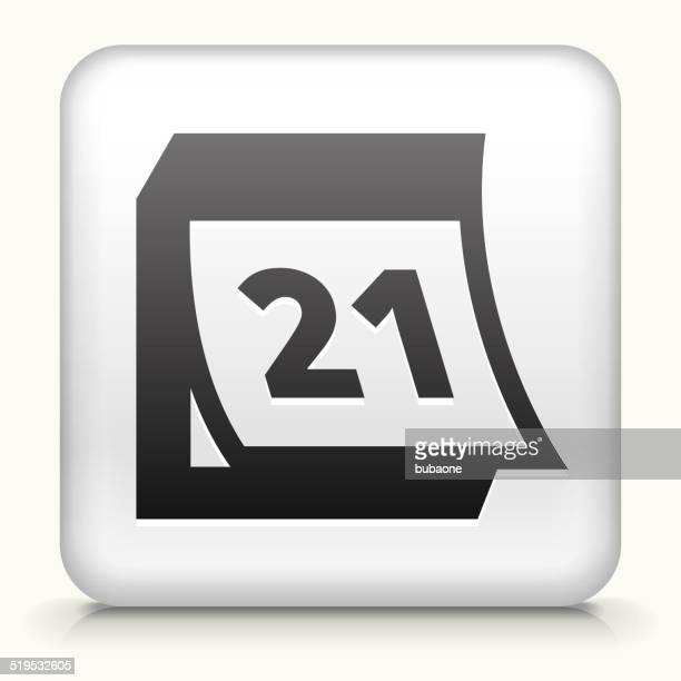 Square Button with Calendar royalty free vector art