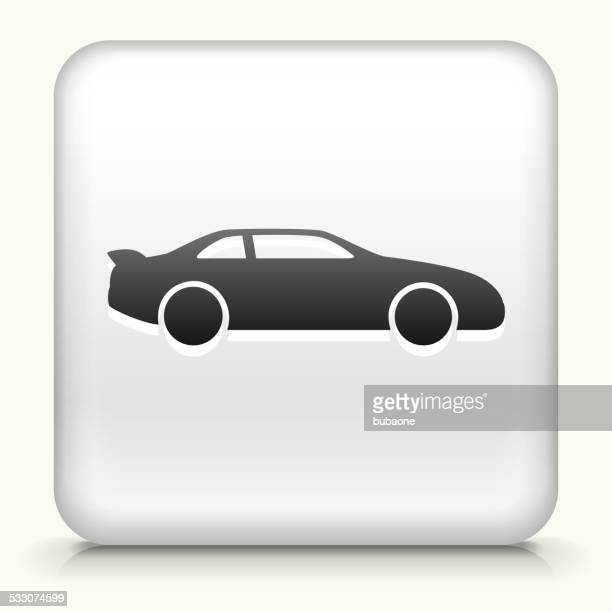 square button with car royalty free vector art - domestic car stock illustrations, clip art, cartoons, & icons
