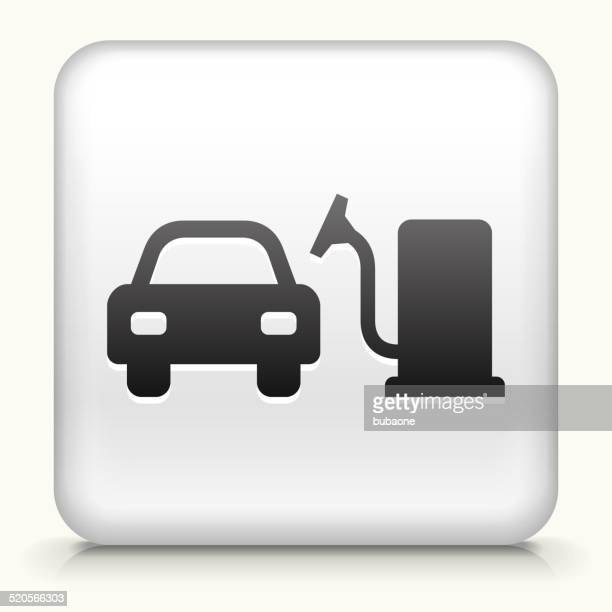 square button with car vacuum royalty free vector art - vacuum cleaner stock illustrations, clip art, cartoons, & icons