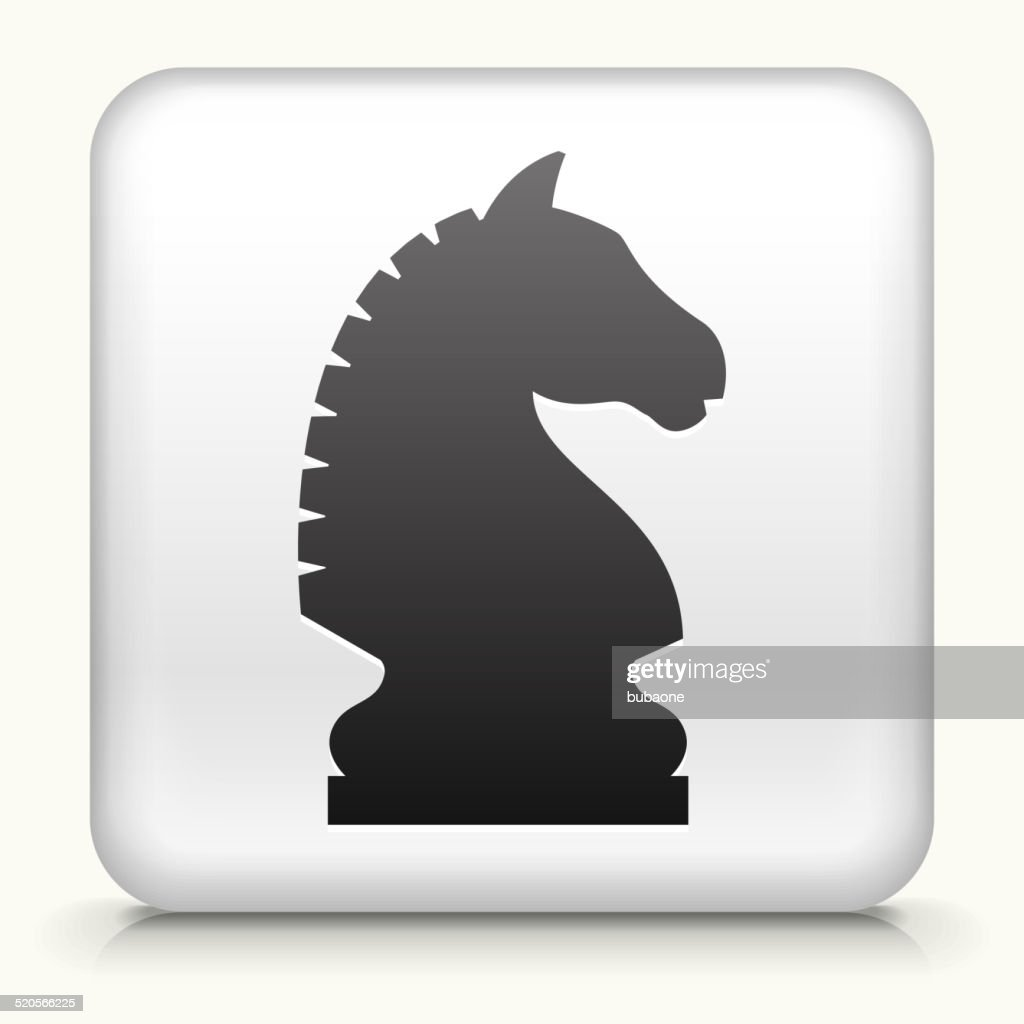Square Button with Chess Knight
