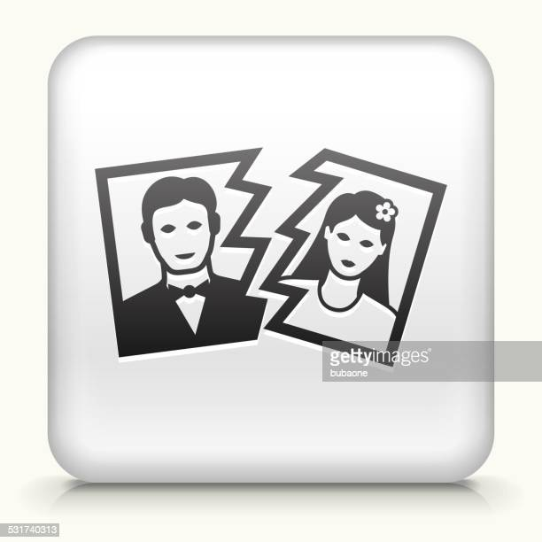 Square Button with Divorce royalty free vector art