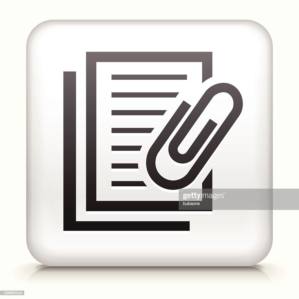 Square Button with Documents
