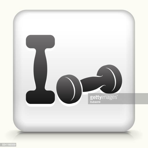 Square Button with Dumbbells